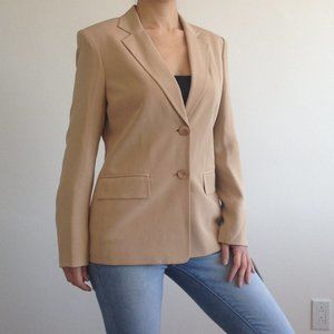 Jones New York - Tan Silk Suit Jacket